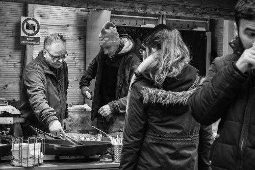 Almuerzo en Mercado de Navidad