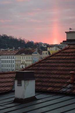 Amaneciendo en Praga