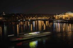 Anochece en el rio Moldaba