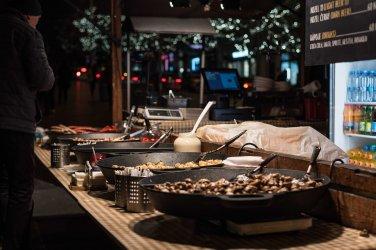 Tipica comida de los Mercados Navideños de Praga