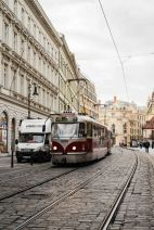 Tranvia en Namesti Republik
